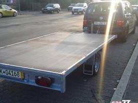 Remorca transport auto sau marfa Inscris RO cu Obloane