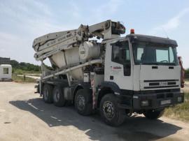 Pompa beton Iveco cu cifa 28m, mixer 10mc