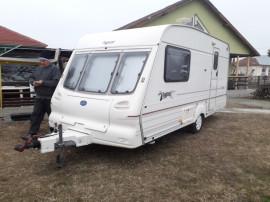 Rulota Anglia- Bailey Magenta cu Motor mover si cort