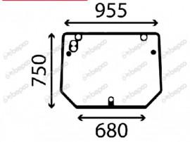 Geam tractor same/deutz 0.014.2295.0 00142295010 1422950