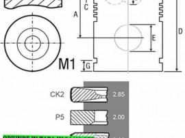 Piston cu segmenti tractor Fendt