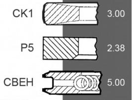 Segmenti AR55759 , AT29213,26/34-48