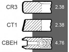 SET SEGMENTI MF 41158017 , 68237 , 745738M91 , 745815M91