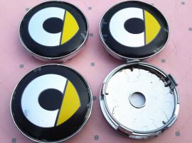 Capace jante smart logo galben