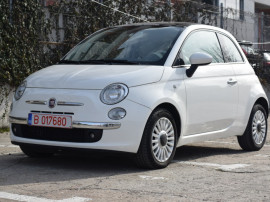 Fiat 500, 1.3 multijet lounge, 2010, panoramic, alb