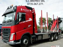 Camion forestier 6x4 Volvo-500 arcuri fier+leasing de la 10%