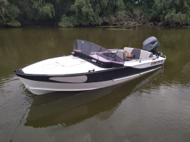 Barca aluminiu+motor