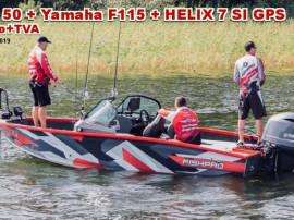 Barca FishPro 50, pachet promo Yamaha 115 si Helix 7 SI GPS