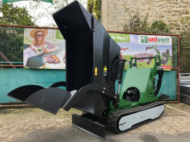Mini-dumper senilat nou, sarcina 600 kg, fabricat in Franta